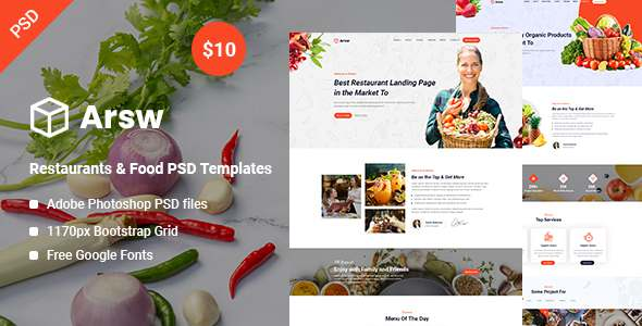 Arsw – Restaurants amp Food PSD Templates TFx