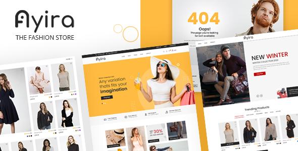 Ayira – The Fashion Store Websites PSD Templates TFx
