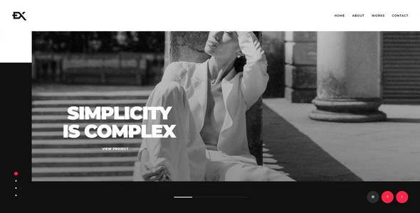 Bigex – Creative Portfolio Template TFx