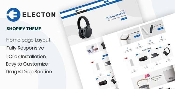 Electon- The Electronics amp Gadgets eCommerce Shopify Theme TFx