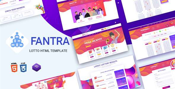 Fantra – Online Lotto amp Lottery HTML Template TFx