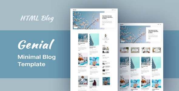 Genial – Minimal Blog HTML Template TFx