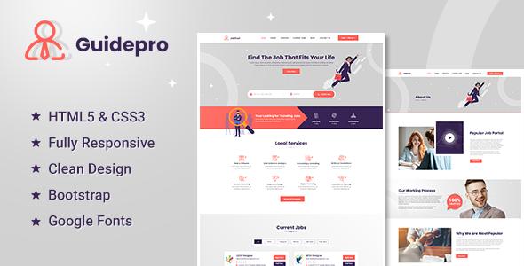 Guidepro - Job Portal HTML5 Template TFx