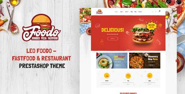 Leo Foodo - Fastfood amp Restaurant Prestashop Theme TFx