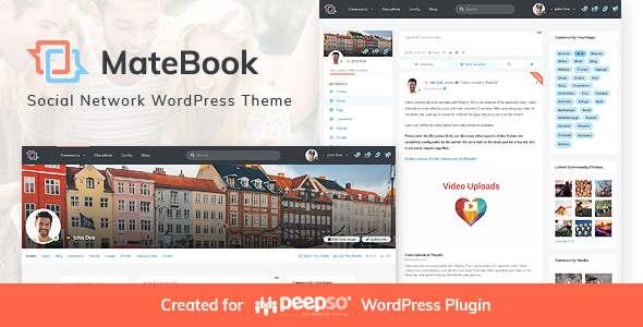 Matebook - Social Network WordPress Theme TFx