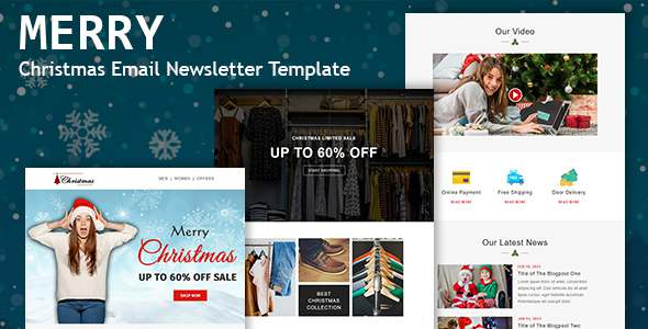 Merry - Christmas Email Newsletter Template TFx