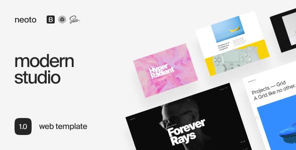 Neoto  Creative Studio Portfolio Template TFx