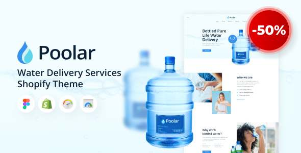 Poolar - Shopify Water Delivery Services Theme TFx