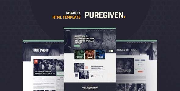 Puregiven - Nonprofit HTML Template TFx