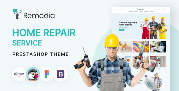 Remodia - Home Repair Service PrestaShop Theme TFx