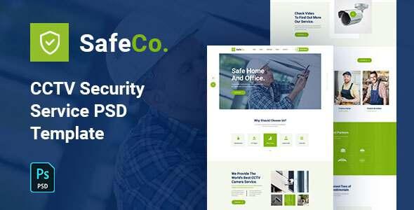 SafeCo - CCTV Security Service Agency PSD Template TFx