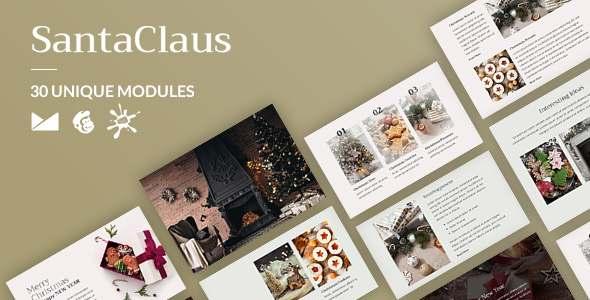 SantaClaus Email-Template  Online Builder TFx