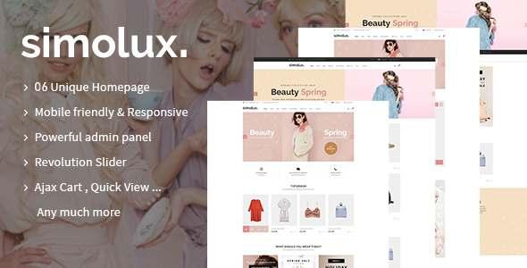 Simolux - Multipurpose Shopify Sections Theme TFx