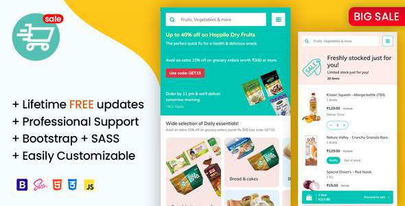 Soprdaily - Organic Food amp Grocery Market Mobile Template TFx