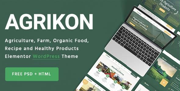 Agrikon - Organic Farm Agriculture WordPress Theme TFx