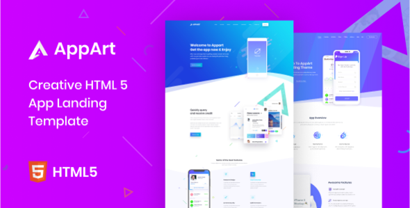 AppArt - Creative HTML Template For Apps TFx