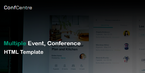 ConfCentre - Business amp Events Landing Page HTML Template TFx