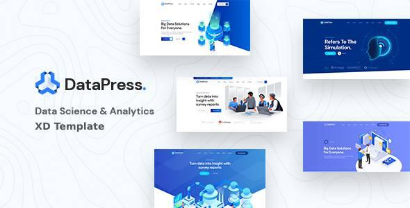 DataPress - Data Science amp Analytics XD Template TFx