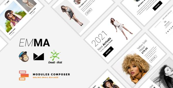 Emma - E-commerce Responsive Email for Fashion amp Accessories with Online Builder TFx