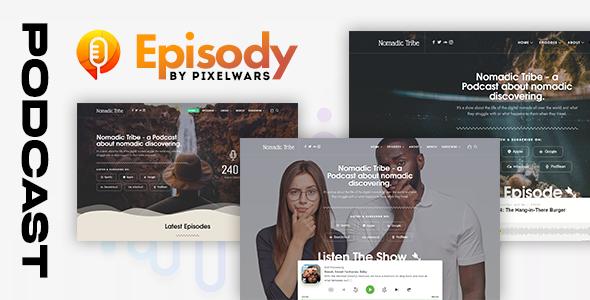 Episody - Podcast Audio WordPress Theme TFx