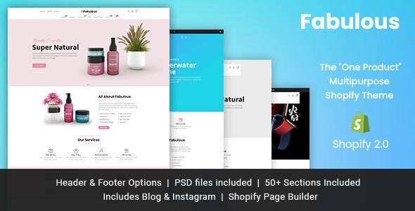 Fabulous - Single Product eCommerce Shopify Theme TFx