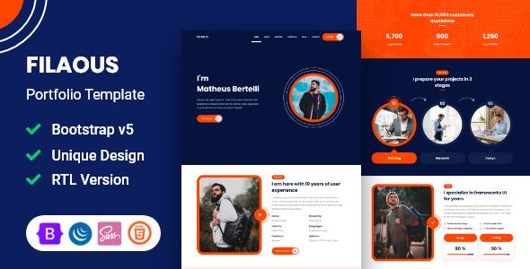 Filaous – Portfolio Template TFx SiteTemplates
