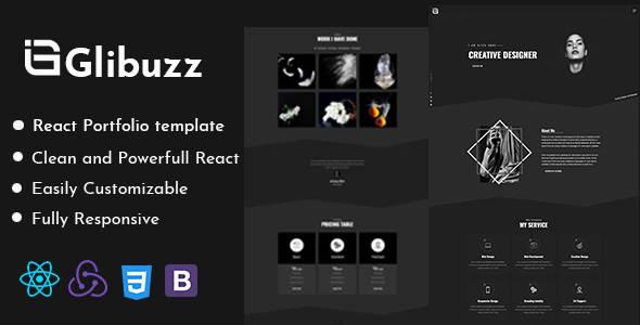 Glibuzz - Personal Portfolio React Template TFx