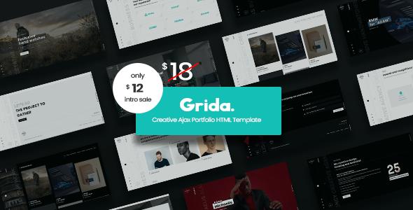 Grida - Creative Agency Ajax Portfolio amp personal HTML Template TFx