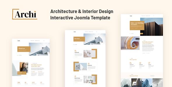 JD Archi - Architecture amp Interior Design Template TFx