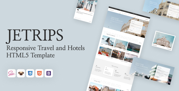Jetrips - Responsive Travel and Hotels HTML5 Template TFx