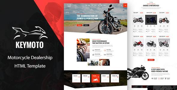 Keymoto - Motorcycle HTML Template TFx