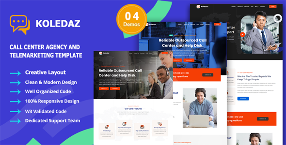 Koledaz – Call Center Services Company Template TFx