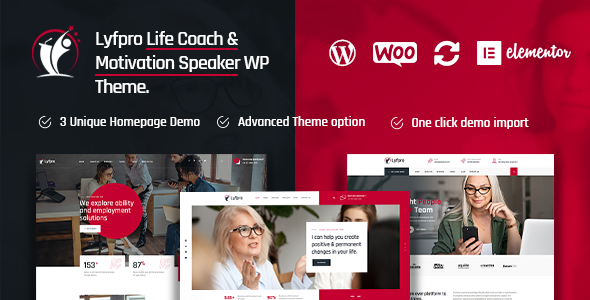 Lyfpro – Life Coach WordPress Theme TFx