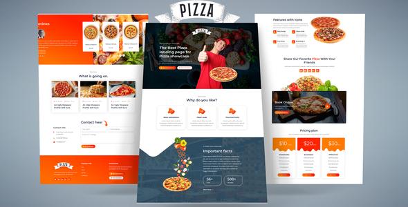 Pizza- HTML Landing Page TFx LandingPages
