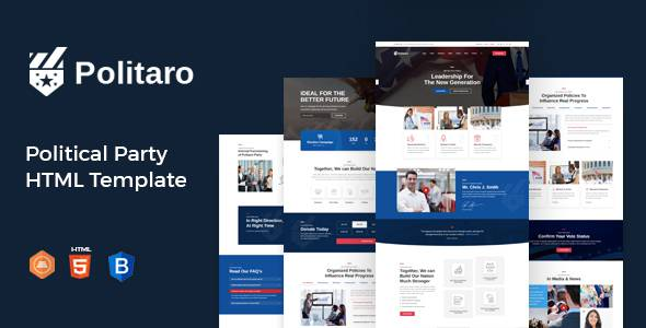 Politaro - Political and Government HTML Template TFx