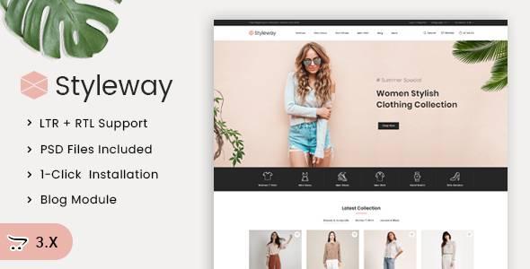 Styleway - Online Fashion OpenCart 3x Responsive Theme TFx