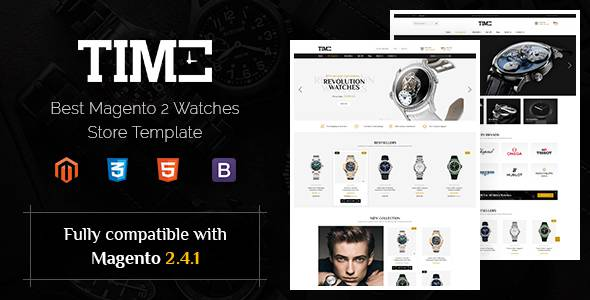 Time – Modern Magento 2 Watch Store Theme TFx