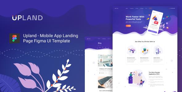 Upland - Mobile App HTML Template TFx LandingPages