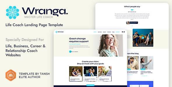 Wranga Life Business amp Career Coach Feminine HTML Landing Page Template TFx