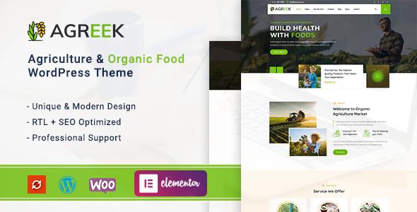 Agreek - Agriculture amp Organic Food WordPress Theme TFx