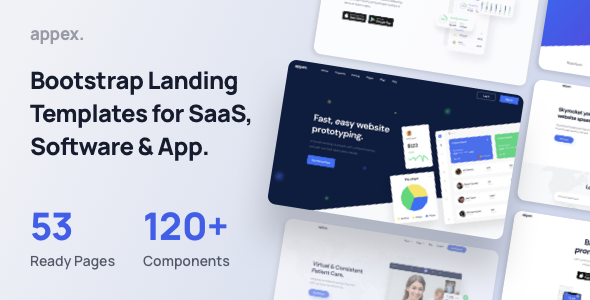 Appex - Landing Page Template for SaaS Startup amp Agency TFx