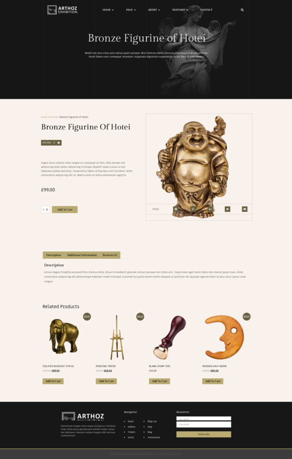 Arthoz - Art Exhibition Elementor Template kit TFx