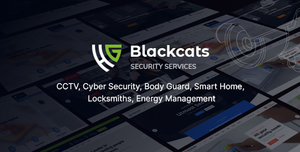 Blackcats – CCTV amp Security HTML Template TFx