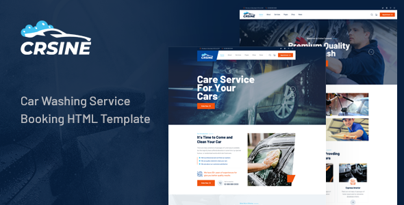 CRSINE - Car Washing Service Booking HTML Template TFx