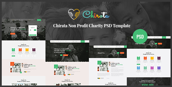 Chirota – Non Profit Charity PSD Template TFx