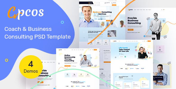 Coach amp Business Consulting PSD Template TFx