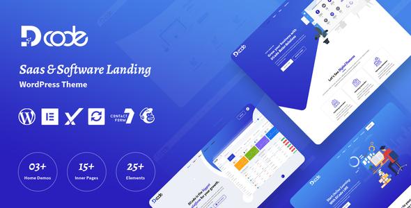 DCode - SaaS Landing Page WordPress Theme TFx