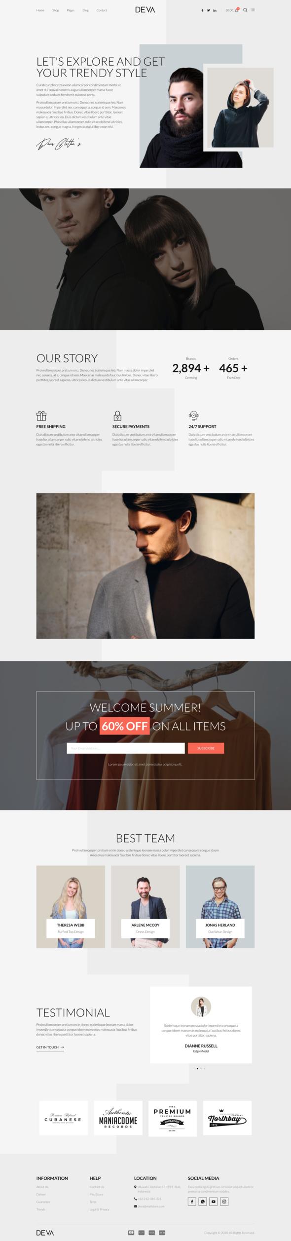 DEVA - Fashion Store WooCommerce Elementor Template Kit TFx