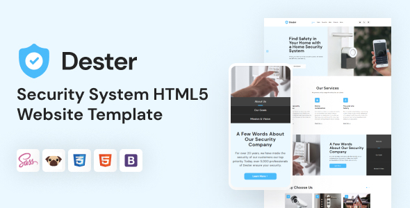 Dester - Security System HTML5 Template TFx