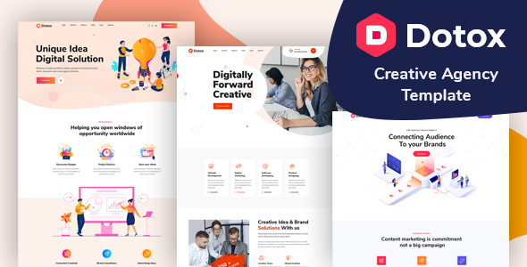 Dotox - Creative Agency XD Template TFx
